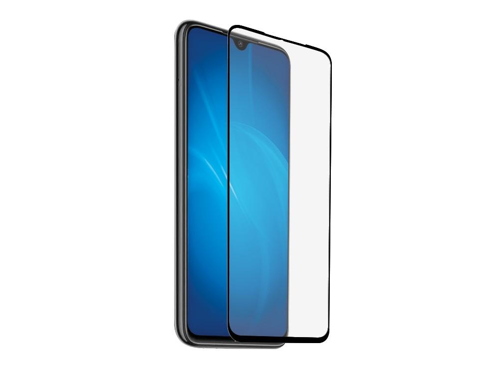 Закаленное стекло с цветной рамкой DF xiColor-70 black (fullscreen+fullglue) для Xiaomi Redmi Note 8 защитное стекло df xicolor 11 для xiaomi mi 5c с рамкой белый