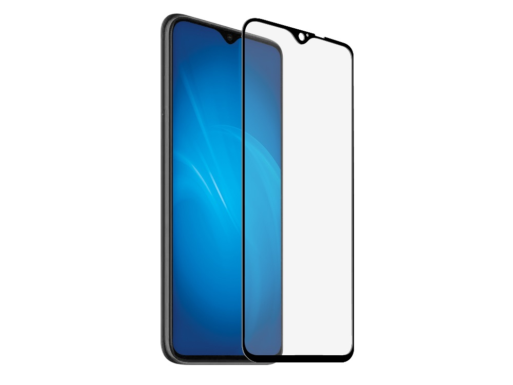 Закаленное стекло с цветной рамкой DF xiColor-67 black (fullscreen+fullglue) для Xiaomi Redmi Note 8 Pro защитное стекло df xicolor 11 для xiaomi mi 5c с рамкой белый