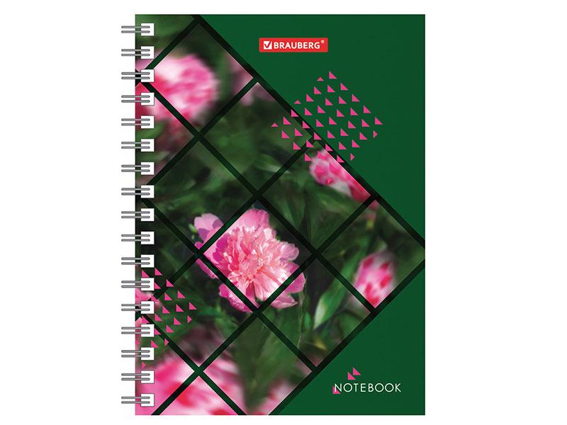 цена на Записная книжка МАЛОГО ФОРМАТА (160х114 мм) А6, BRAUBERG, 80 листов, гребень, клетка,