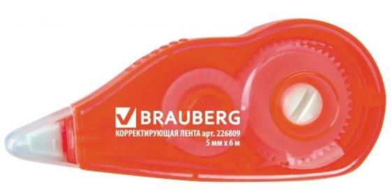 Корректирующая лента BRAUBERG Корректирующая лента 226809 корректирующая лента brauberg 5 мм х 20 м корпус синий механизм перемотки блистер 227799
