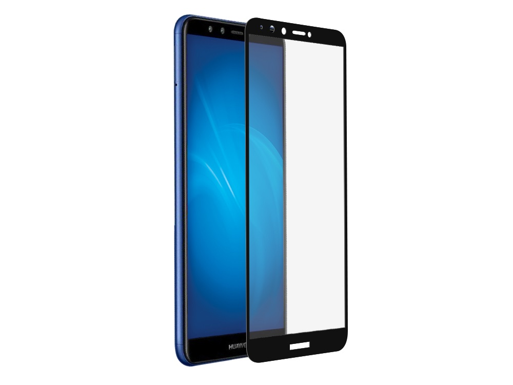 Закаленное стекло с цветной рамкой (fullscreen+fullglue) для Huawei Honor 7C DF hwColor-67 (black) закаленное стекло с цветной рамкой fullscreen для huawei y9 2018 df hwcolor 42 black