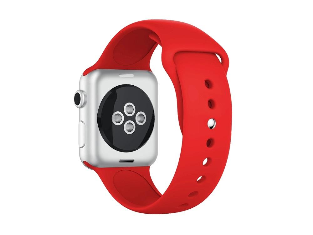 Ремешок силиконовый для Apple Watch (38-40мм) DF iClassicband-01 (red) df df dual 01