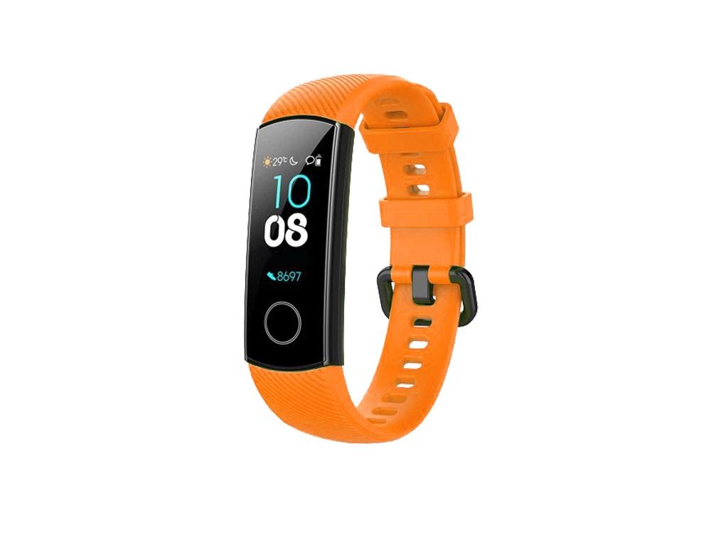 Ремешок силиконовый для Honor Band 4/5 DF hwClassicband-02 (orange) цена 2017