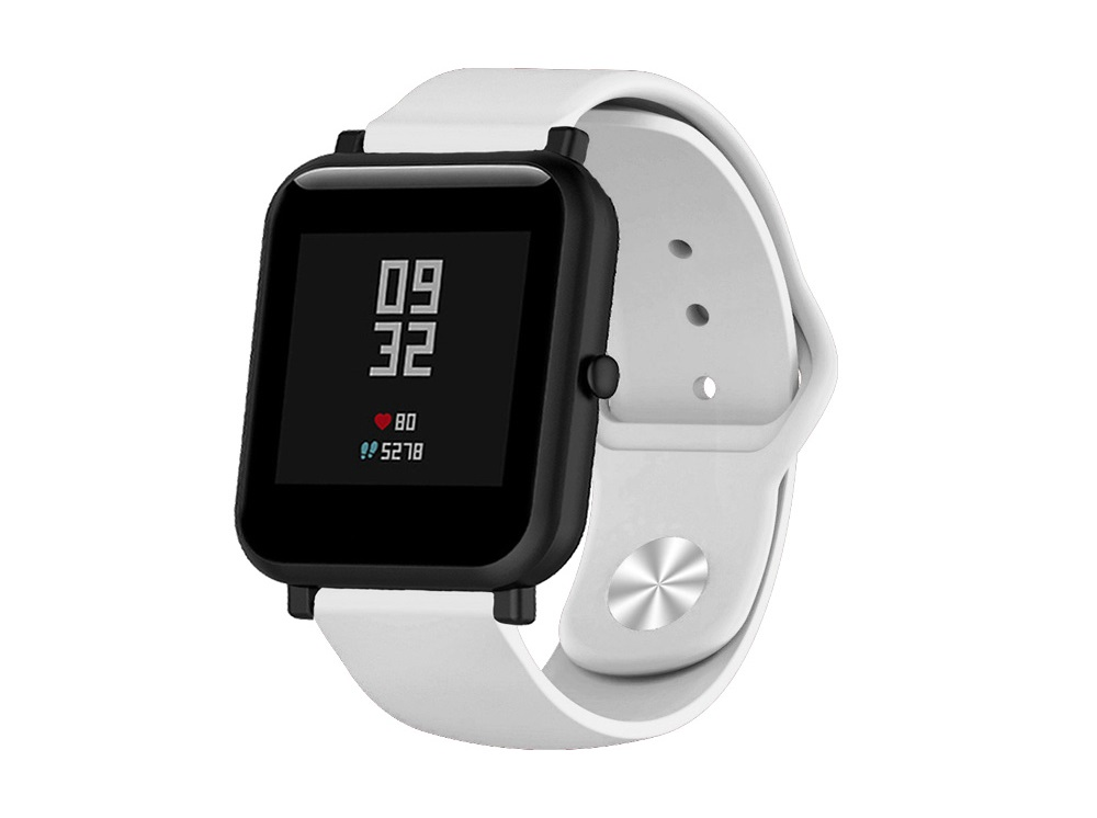 цена Ремешок силиконовый для Xiaomi Amazfit Bip DF xiClassicband-01 (white) онлайн в 2017 году
