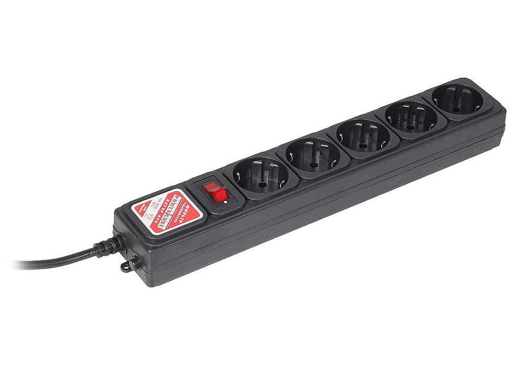цена на Сетевой фильтр Power Cube B 1.95м 5 розеток черный