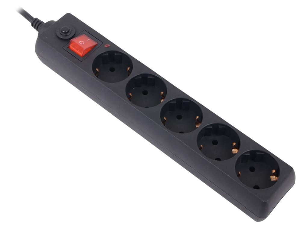 Сетевой фильтр Buro 500SH-3-B 3м (5 розеток) черный сетевой фильтр buro 500sh 1 8 b 5 розеток black