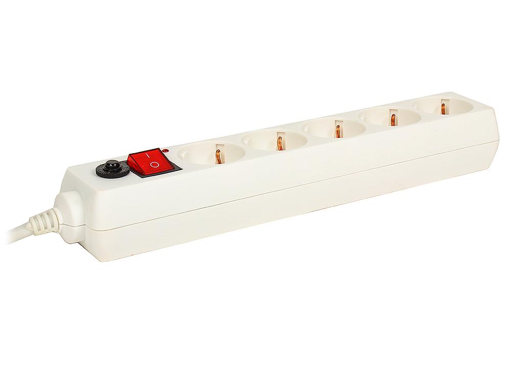 Сетевой фильтр Buro 500SH-5-W 5м (5 розеток) белый сетевой фильтр buro 500sh 1 8 b 5 розеток black