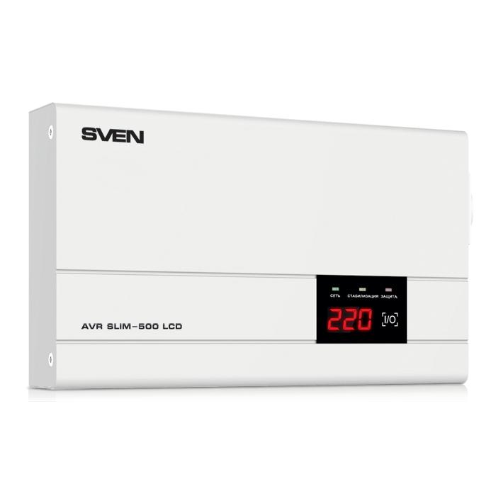 Стабилизатор напряжения SVEN AVR SLIM-500 LCD sven seb 26 bk
