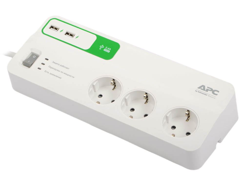 Сетевой фильтр APC PM6U-RS 6 розеток 2 м белый сетевой фильтр apc pm5b rs серый