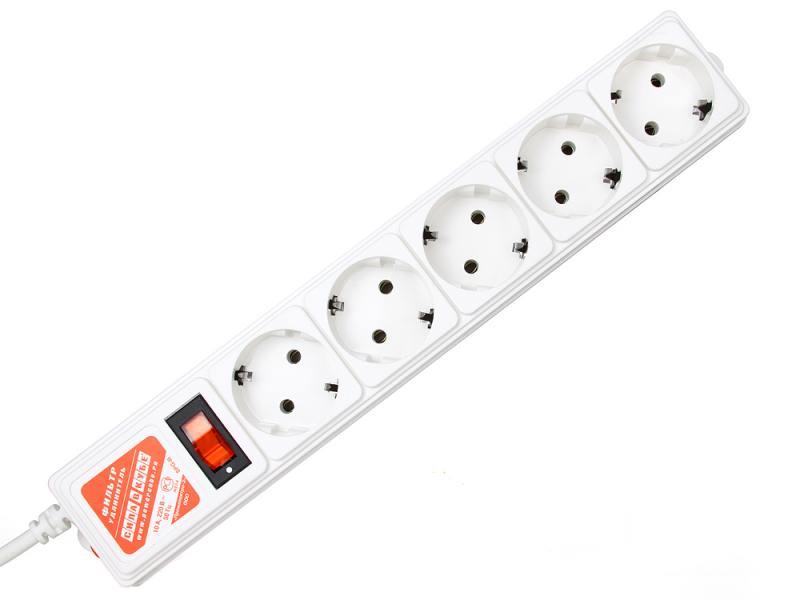 Сетевой фильтр Power Cube SPG-B15 5 розеток 5 м белый все цены