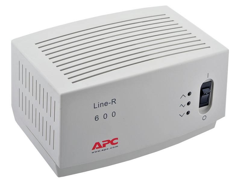 Стабилизатор напряжения APC Line-R LE600I 4 розетки 2 м белый стабилизатор apc line r 600 le600i