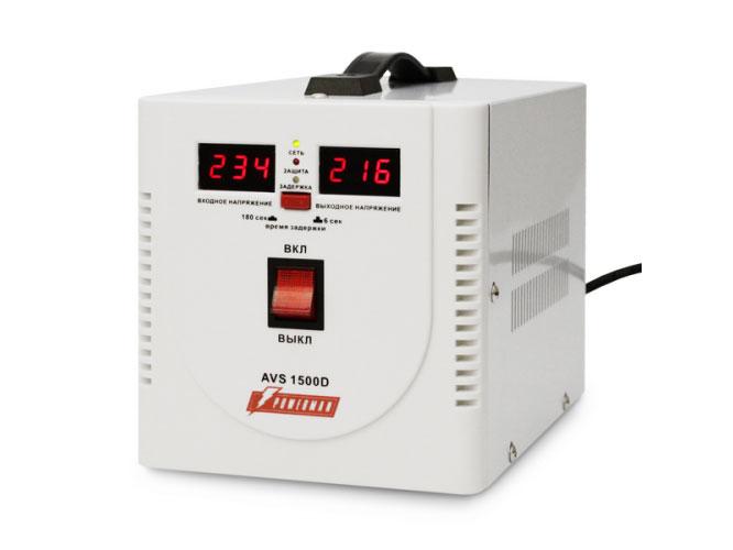 Стабилизатор напряжения Powerman AVS 1500D 2 розетки белый цена