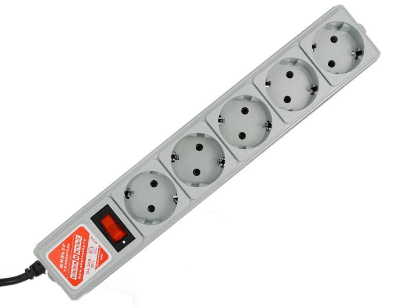 Сетевой фильтр Power Cube SPG-B6 5 розеток 1.9 м серый все цены