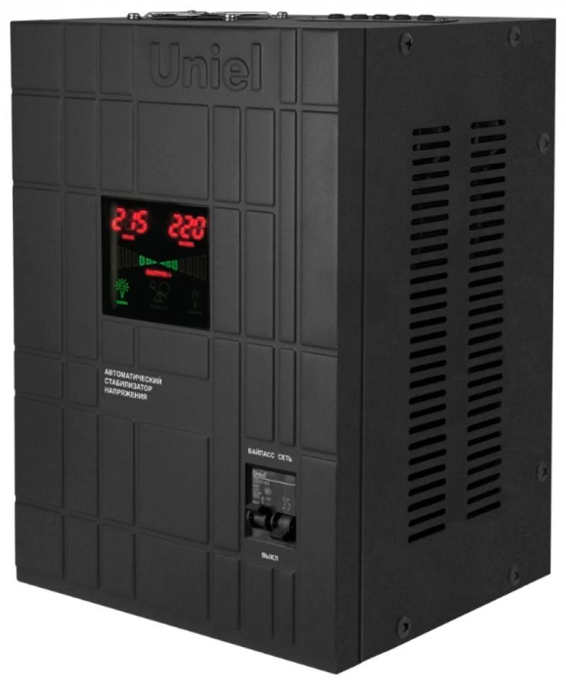 Стабилизатор напряжения Uniel (09502) 8000ВА RS-1/8000LS цена