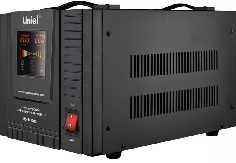 Стабилизатор напряжения Uniel (03108) 1000ВА RS-1/1000 цена