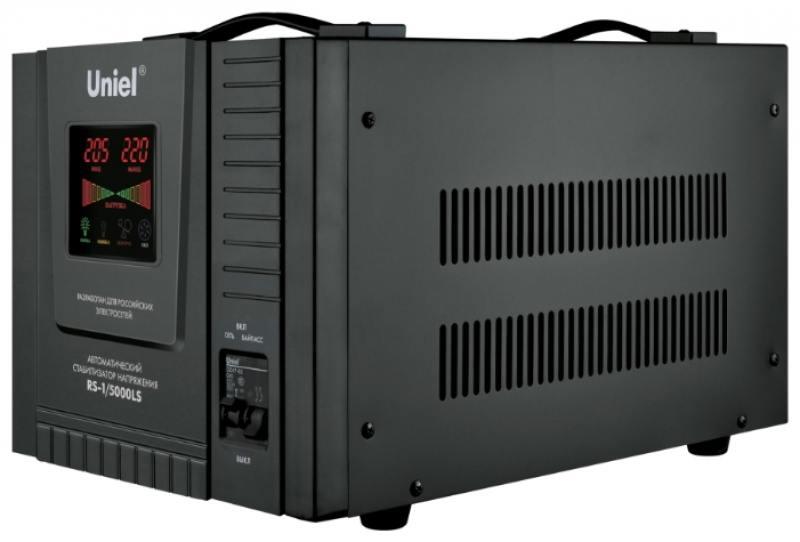 Стабилизатор напряжения Uniel (09501) 5000ВА RS-1/5000LS цена