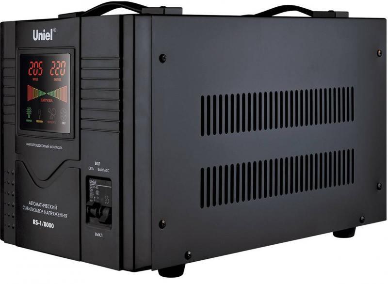 Стабилизатор напряжения Uniel (03113) 8000ВА RS-1/8000 цена