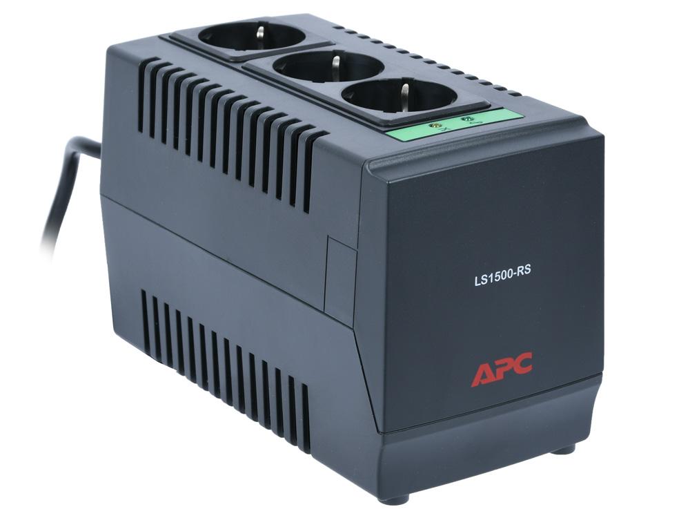 Стабилизатор напряжения APC Line-R LS1500-RS 3 розетки, 1 м, черный все цены