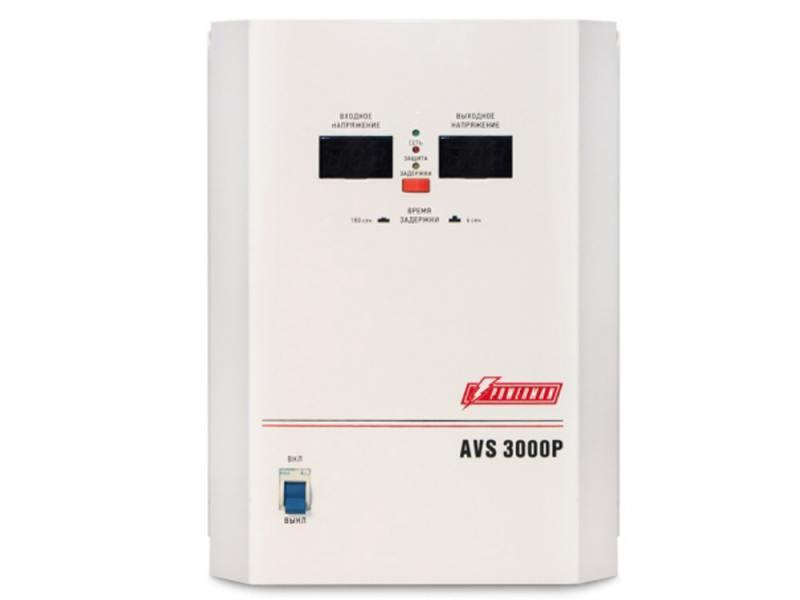 Стабилизатор напряжения Powerman AVS 3000P 1 розетка белый