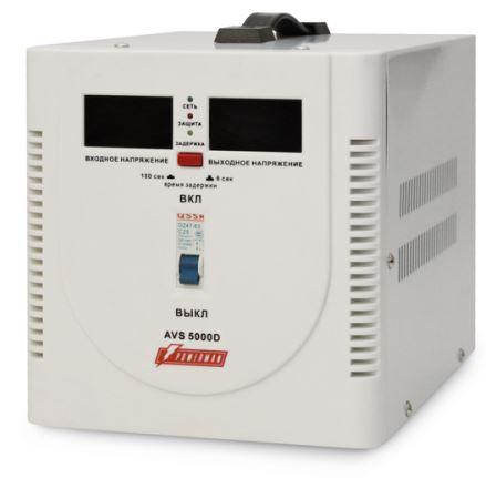 Стабилизатор напряжения Powerman AVS 5000D 1 розетка белый цена