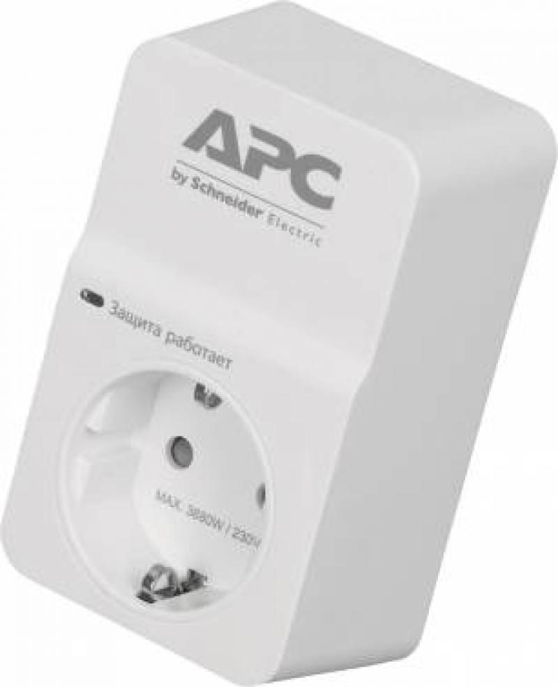 Сетевой фильтр APC PM1W-RS 1 1 розетка белый