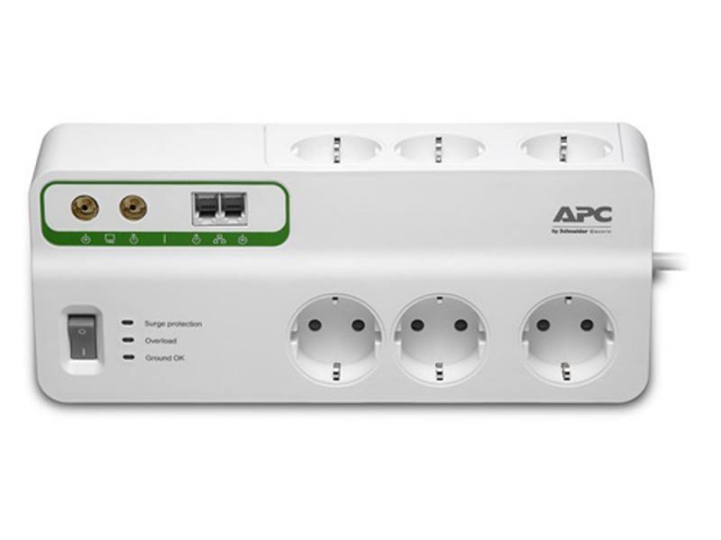Сетевой фильтр APC PMH63VT-RS 6 розеток 2.4 м белый