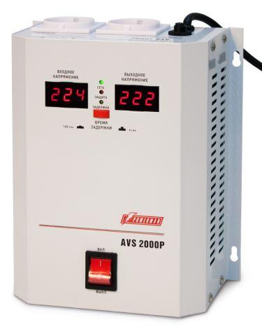 Стабилизатор напряжения Powerman AVS-2000P 2000VA белый стабилизатор напряжения powerman avs 2000d черный 2 розетки