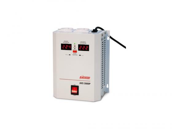 Стабилизатор напряжения Powerman AVS-2000P 2000VA белый ибп стабилизатор powerman avs 1000m