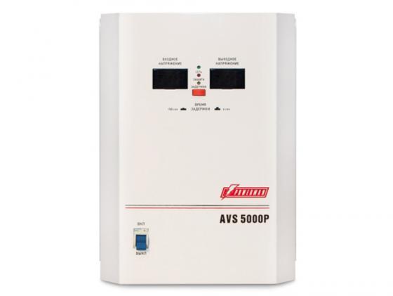 Стабилизатор напряжения Powerman AVS 5000P 1 розетка белый стабилизатор напряжения powerman avs 20000d белый