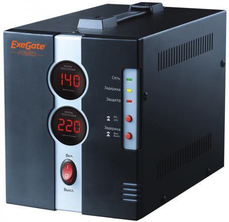 Стабилизатор напряжения Exegate DCR-1000D 1 розетка черный EP259016RUS цена