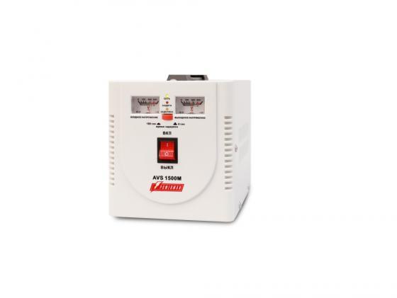 Стабилизатор напряжения Powerman AVS-1500M 1500VA белый ибп стабилизатор powerman avs 1000m