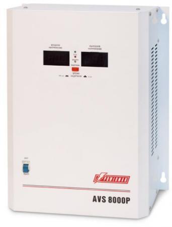 Стабилизатор напряжения Powerman AVS-8000P 8000VA белый ибп стабилизатор powerman avs 1000m