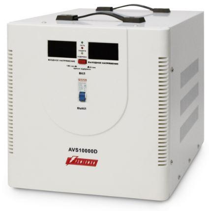 Стабилизатор напряжения Powerman AVS-10000D 2 розетки белый стабилизатор напряжения powerman avs 2000d черный 2 розетки