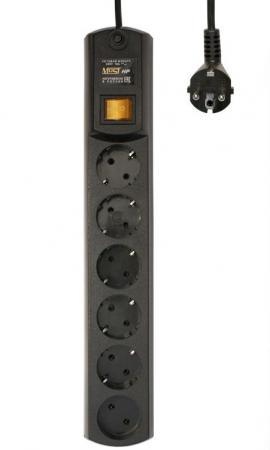 Сетевой фильтр MOST HPW 5М ЧЕР 6 розеток 5 м черный цены