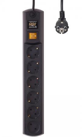 Сетевой фильтр MOST hp 2м чер 6 розеток 2 м черный сетевой фильтр most сrg 6 розеток white