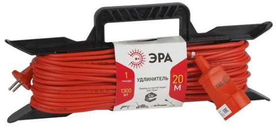 Удлинитель Эра UF-1-2x0.75-20m 1 розетка 20 м оранжевый цена