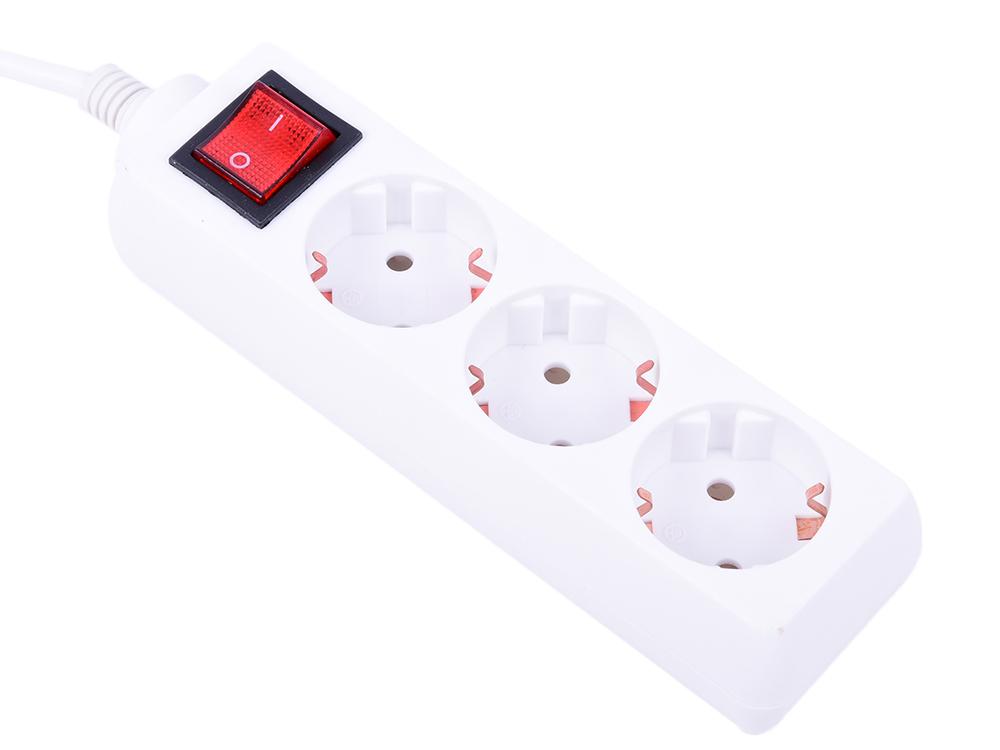 Сетевой удлинитель Buro BU-PS3.3/W 3 розетки, 3 метра белый сетевой удлинитель buro bu psl3 3 w 3м белый