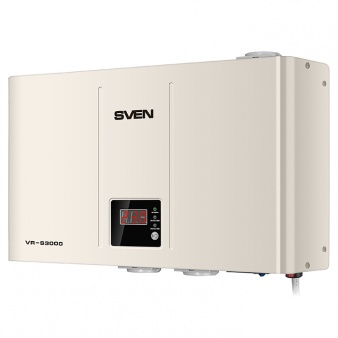 Стабилизатор SVEN VR-S3000, Relay, 1800W, 3000VA, 140-275v, 3 euro outlets (CEE7/4), white black 4 pin 80a 12v relay and relay socket with wire for motorcycle accessories and auto spare parts