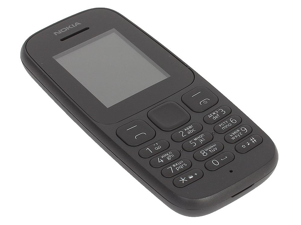 Мобильный телефон Nokia 105 SS Black (2017) 1.8 120x160/2G/800mAh мобильный телефон nokia 105 ds