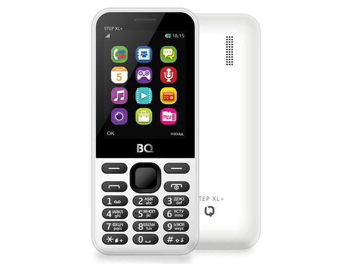 Мобильный телефон BQM-2831 Step XL+ White мобильный телефон bq bqm 2831 step xl черный 2 8 32 мб