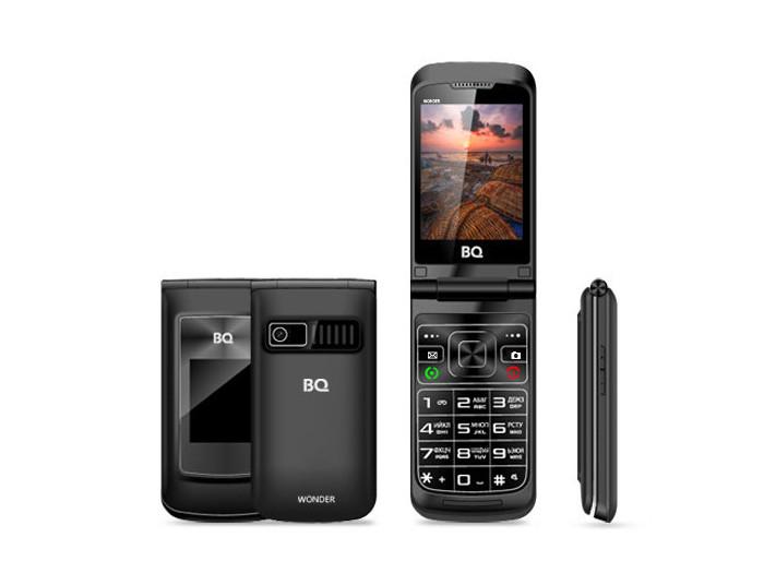 Мобильный телефон BQ-2807 Wonder Black 32MB / 64MB / 2.8 240x320 / 2Sim / 2G / BT / 0.3Mp мобильный телефон texet tm 501 red 2 8 240x320 2g 3g bt 0 3mp