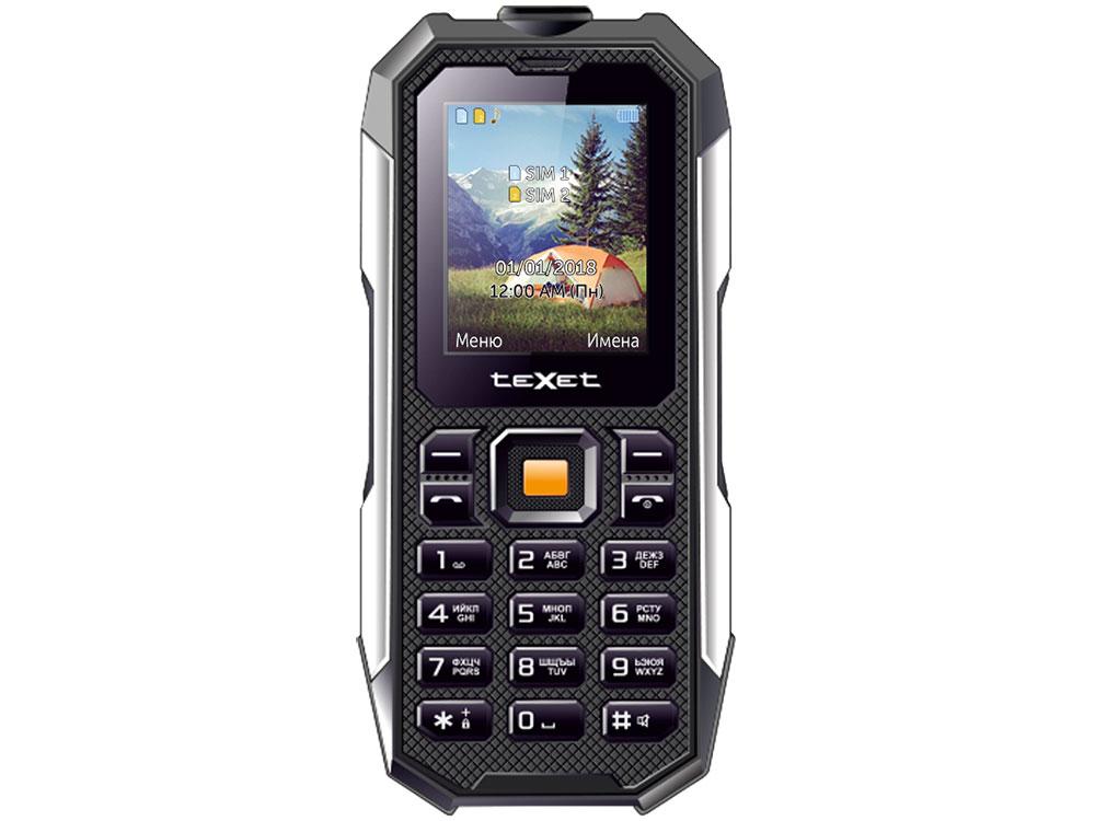 Мобильный телефон TEXET TM-518R Black 32 Mb/2. (220x176)/DualSim мобильный телефон texet tm b220 черный красный 1 77 32 мб