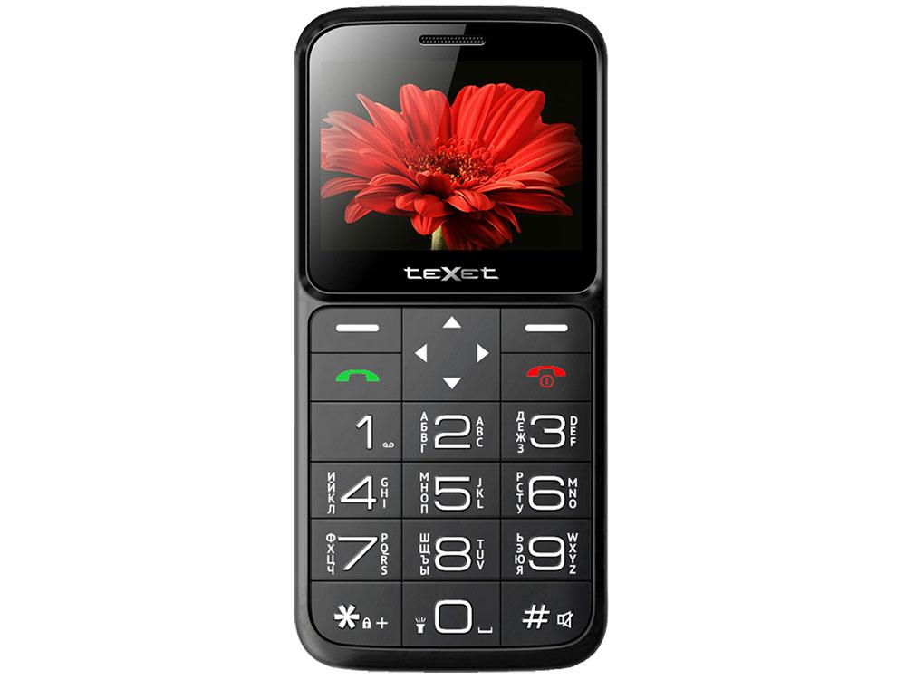 Мобильный телефон TEXET TM-B226 Black/Red 32 Mb/2.31 (320x240)/DualSim мобильный телефон texet tm b220 черный красный 1 77 32 мб