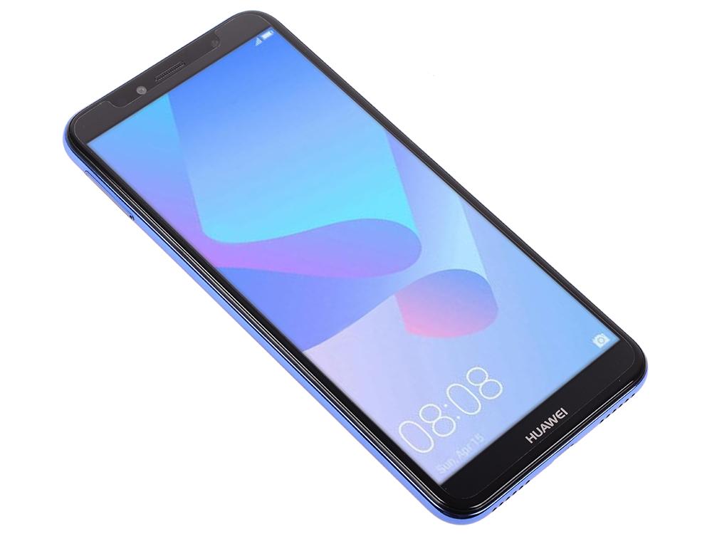 Смартфон Huawei Y6 2018 Prime (Blue) Snapdragon 425 (1.4) / 2GB / 16GB / 5.7 1440x720 / 2Sim / 3G / 4G LTE / 13Mp, 5Mp / Android 8.0 (ATU-L31) смартфон huawei y5 2018 lite black mediatek mt6739 1 5 1gb 16gb 5 45 1440x720 ips 2sim 3g 4g lte 8mp 5mp android 8 1