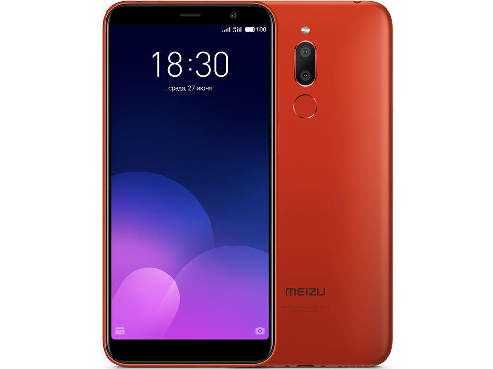 Смартфон Meizu M6T Red MediaTek MT6750 (1.5+1.0)/16 Gb/2 Gb/5.7 (1440x720)/3G/4G/BT/Android 7.0 смартфон prestigio grace p7 psp7570duoblue blue mediatek mt6737 1 3 2 gb 16 mb 5 7 1440x720 dualsim 3g 4g bt android 7 0