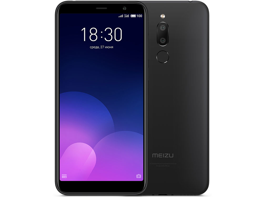 Смартфон Meizu M6T Black 2/16GB MediaTek MT6750 (1.5)/16 Gb/2 Gb/5.7'' (1280 x 720)/DualSim/4G/BT/Android 7.0 смартфон neffos c9a moonlight silver tp706a64ru mediatek mt6750 1 3 16 gb 2 gb 5 5 1280x720 dualsim 3g 4g bt android 7 0