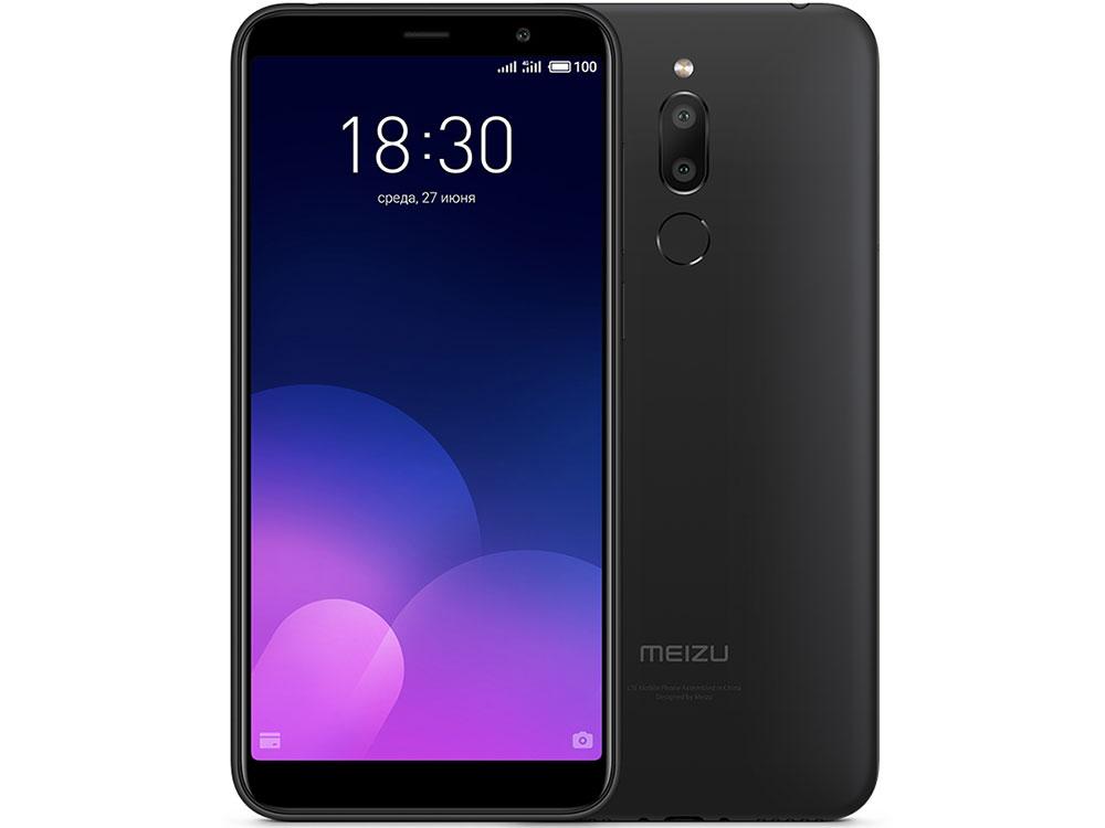 Смартфон Meizu M6T Black 2/16GB MediaTek MT6750 (1.5)/16 Gb/2 Gb/5.7'' (1280 x 720)/DualSim/4G/BT/Android 7.0 смартфон meizu m5s 16gb gold
