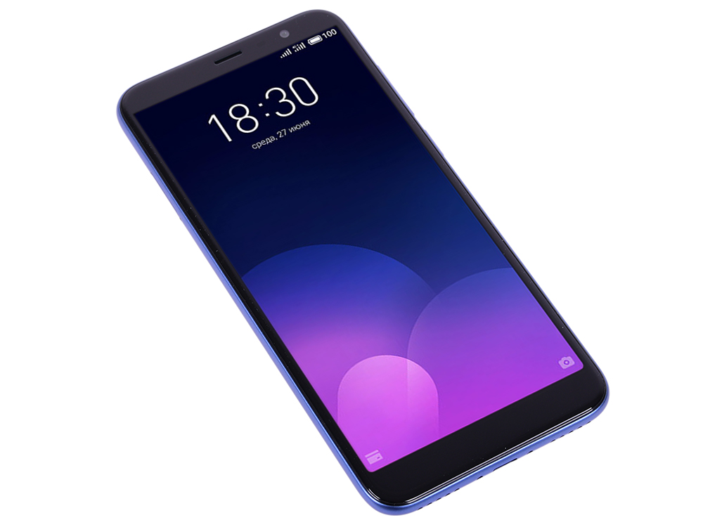 Смартфон Meizu M6T Blue MediaTek MT6750 (1.5 + 1.0)/16 Gb/2 Gb/5.7 (1440x720)/3G/4G/BT/Android 7.0 смартфон neffos c9a moonlight silver tp706a64ru mediatek mt6750 1 3 16 gb 2 gb 5 5 1280x720 dualsim 3g 4g bt android 7 0