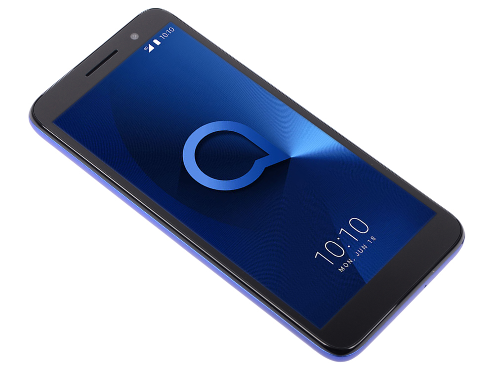 Смартфон Alcatel 1 (5033D) Metalic Blue MediaTek MT6739 (1.3)/1 Gb/8 Gb/5 (960 x 480)/DualSim/BT 4.2/Android 8.1 смартфон meizu m6т 32gb m811h blue mediatek mt6750 1 5 32 gb 3 gb 5 7 1440x720 dualsim 3g 4g bt android 7 0