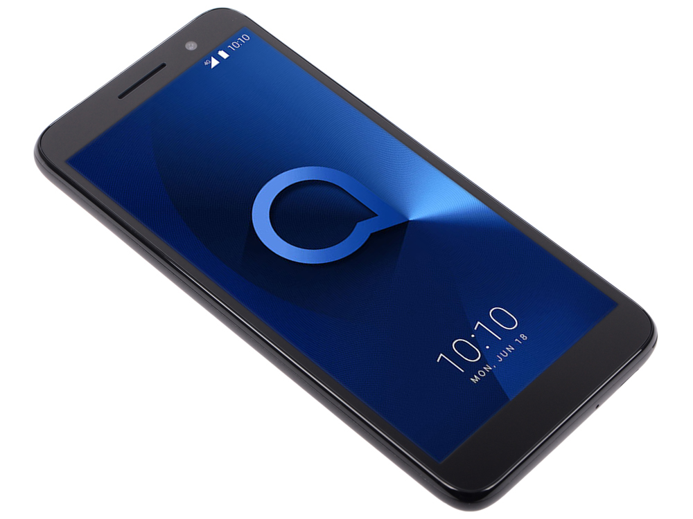 Смартфон Alcatel 1 5033D Metalic Black MediaTek MT6739 (1.3)/8 Gb/1 Gb/5 (960x480)/DualSim/3G/4G/BT/Android 8.1 смартфон xiaomi mi 8 64 black qualcomm snapdragon 845 2 8 1 7 64 gb 6 gb 6 21 2248x1080 dualsim 3g 4g bt android 8 1